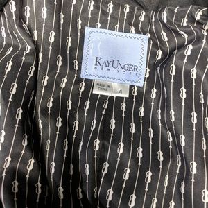 Kay Unger Jackets & Coats - Kay Unger Stretch Knit Ruffle Blazer
